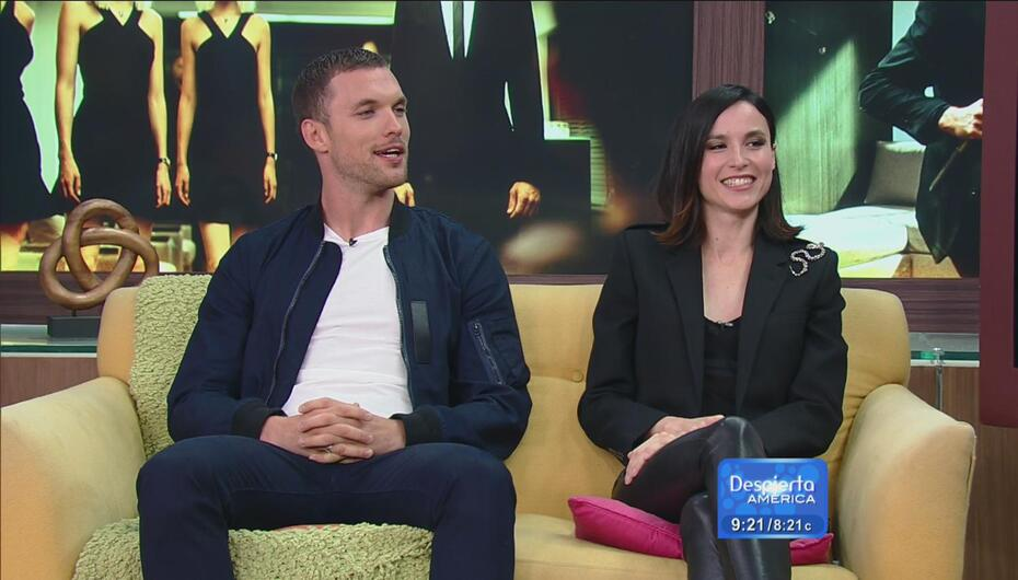 ¡Desde Hollywood! Ed Skrein y Loan Chabanol en Despierta América