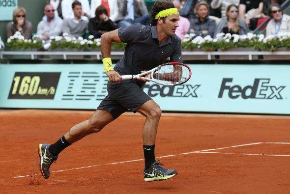 El suizo Roger Federer utilizó su experiencia frente a la arrogancia y d...