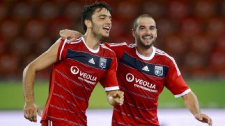 Clément Grenier hizo el gol para el triunfo del Lyon en la vuelta.