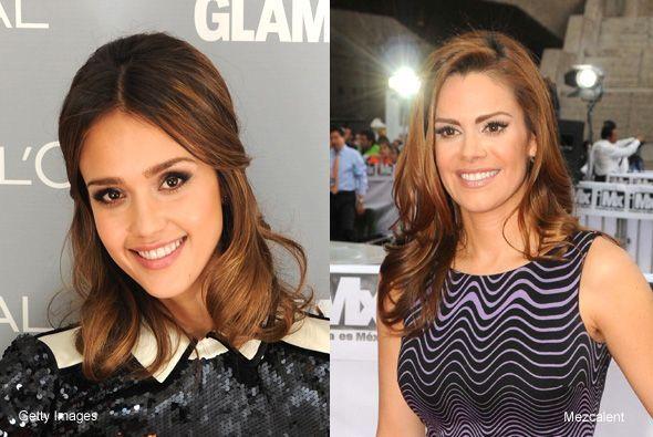 ¿Qué opinan del parecido entre Jessica Alba y Luz Elena González, las do...