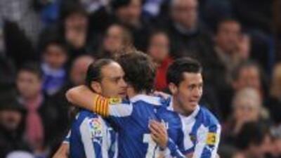 Sergio García hizo el gol del triunfo del Espanyol.
