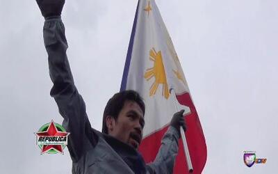 "Manny Pacquiao entrenó al estilo ""Rocky Balboa"""