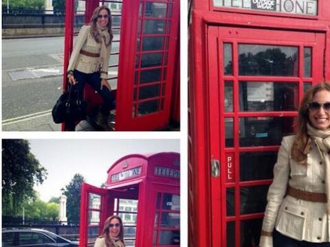 La Flaca se fue de viaje a Londres, Inglaterra, donde se tomó var...
