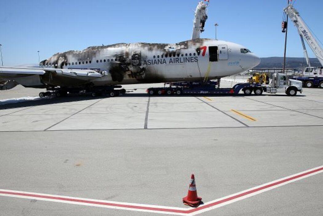 Tras las investigaciones, lo que quedó del vuelo 214 de Asiana Airlines...