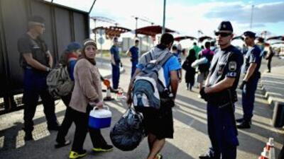 Refugiados llegando a Croacia