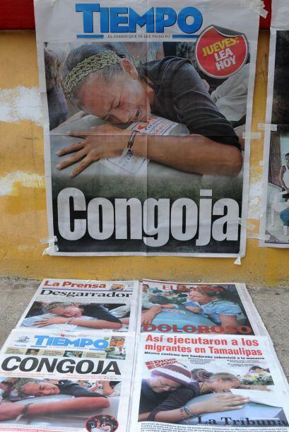 Medios locales reflejaron la conmoción que provocó en el pueblo hondureñ...