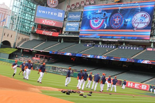 Opening day Astros