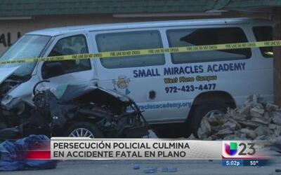 Accidente mortal tras persecución