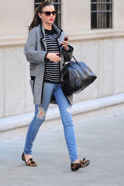 ¡Miranda Kerr es otra belleza que adora la comodidad pero tambi&ea...