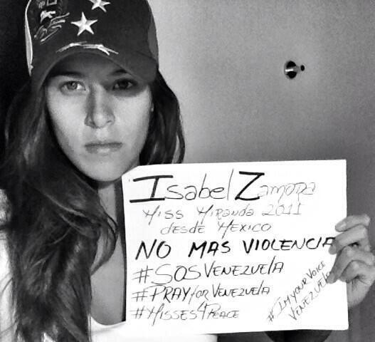 Isabel Zamora, Miss Miranda 2011, pide desde México no más...