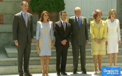 Angélica Rivera y Enrique Peña Nieto visitaron a los Reyes de España