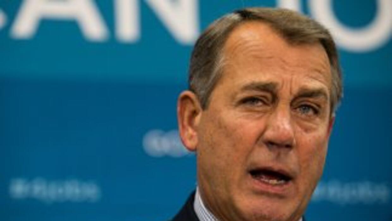 El congresista John Boehner (republicano de Ohio), presidente del Congre...