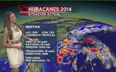 Bertha degradada a Tormenta Tropical