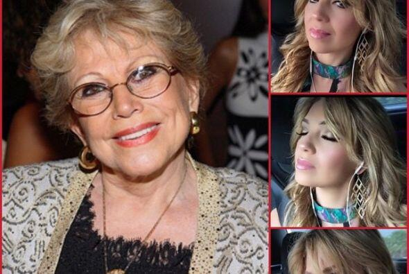 Así de melancólica estuvo Thalía recordando a su inseparable mami.