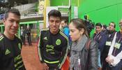 Ana Caty compartió con el 'Tri' el día previo al amistoso contra Senegal