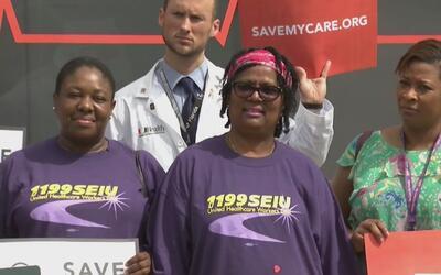 Médicos y enfermeras del hospital Jackson participaron en el tour 'Save...