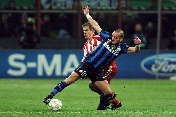 Wesley Sneijder intentó darle mayor proyección al frente a los 'nerazzur...