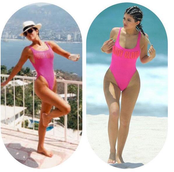 ¡El bikini solía ser de su mamá, Kris Jenner!