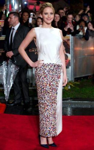Otro muy criticado fue este de Christian Dior con lentejuelas de colores...