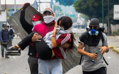 Este lunes fue la cuarta vez que los manifestantes trataron de alcanzar...