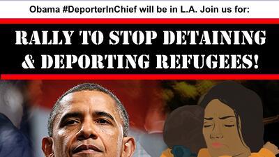 Activistas planearon la manifestación para exigir fin a las deportaciones