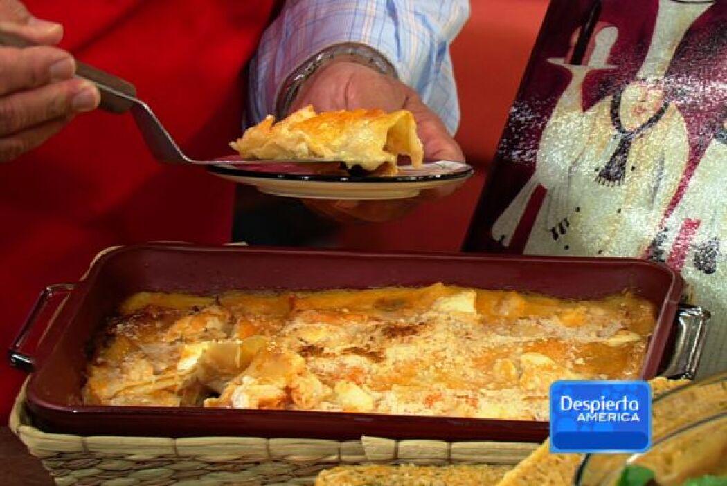 Receta de Lasaña con Camarones con el chef Pepín Aquí te dejamos otra re...