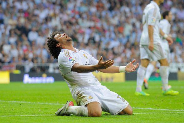 Marcelo, defensor del Madrid, pidió perdón al todo poderoso.