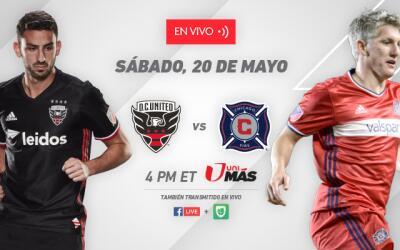 DC United vs Chicago Fire - Sábado, 20 de mayo