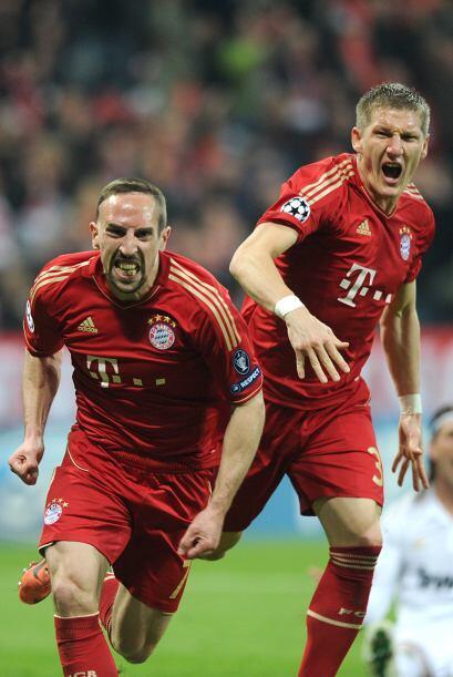 Ribery no perdonó y el bayern lograba irse al frente.