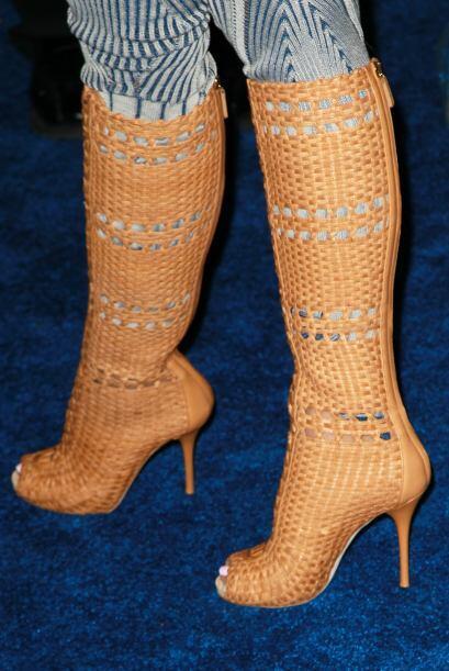 Sus botas 'peep toe' y las que le llegan a la rodilla son un 'must' en s...