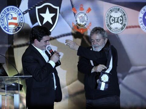 El máximo dirigente del Corinthians, Andrés Sánchez...