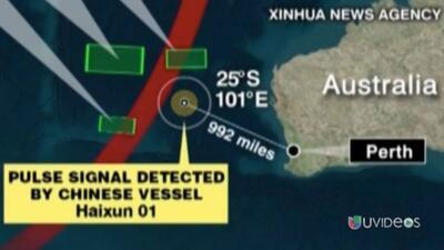 Navío chino detectó una segunda señal que podría ser de la caja negra de...