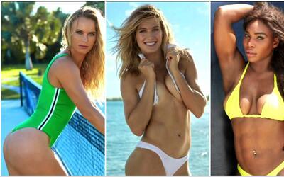 Serena Williams, Wozniacki y Bouchard posaron en trajes de baño: punto,...