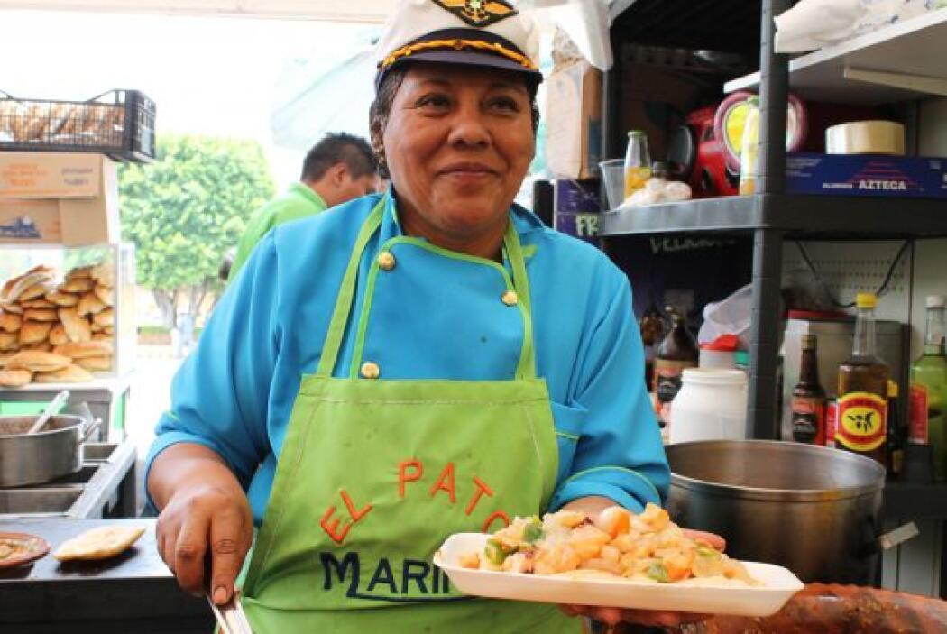 Doña Sonia, de la tortería El Pato Marino, ganó el segundo lugar de la t...