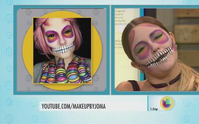 Impresionante maquillaje para Halloween