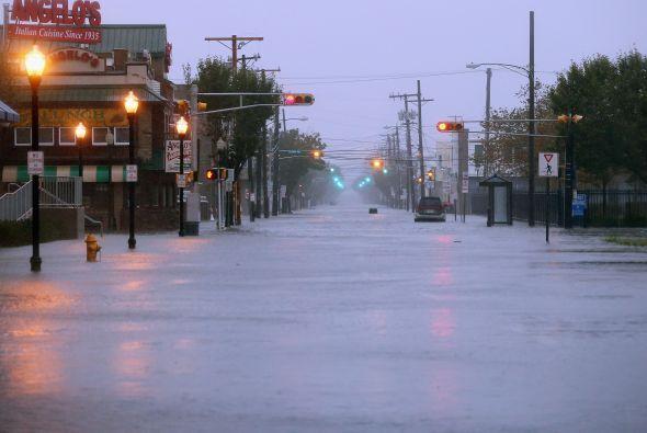 Inundaciones en Nueva Jersey y Atlantic City a raíz del Huracán Sandy.