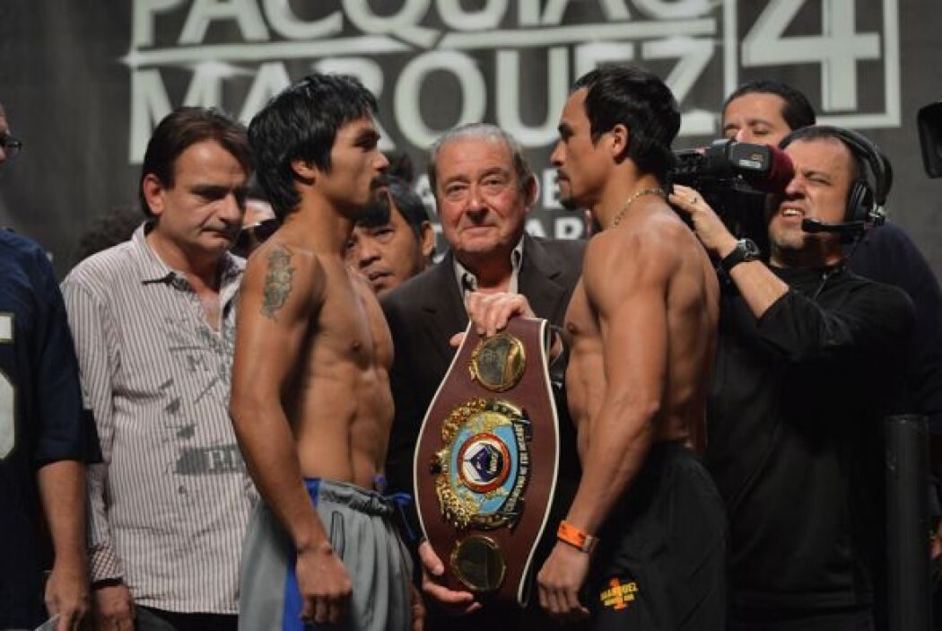 Manny Pacquiao y Juan Manuel Márquez superaron la báscula y están listos...