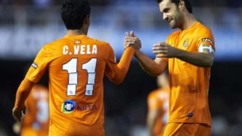 Xabi Prieto hizo uno de los 4 goles de la Real Sociedad.