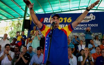 Siguen las protestas para presionar el revocatorio del Presidente Nicolá...