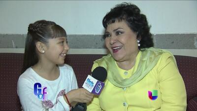 Monserrat 'Telesa' Garcia debutó como la nueva reportera de El Gordo y L...