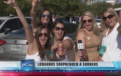 Longhorns vencen a Sooners