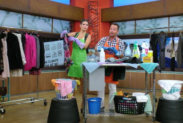 Ana Patricia aprendió a lavar la ropa de acuerdo a las especifica...
