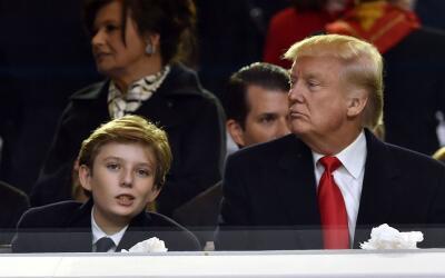 Barron Trump, de 10 años de edad, fue el centro de burlas y memes...