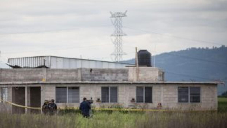 La casa donde fue encontrado el túnel por donde huyó El Chapo Guzmán des...