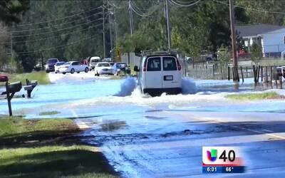 Lumberton sufre de inundaciones por el huracán Matthew