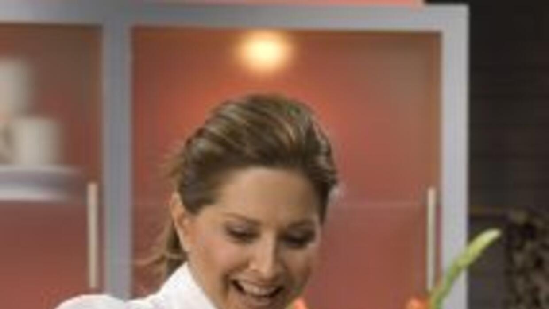 Ingrid Hoffmann cocinando en Delicioso