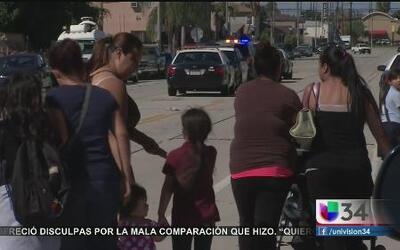 Niños evacuados por humo tóxico en Wilmington