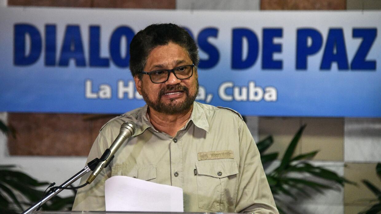 El jefe negociador de la guerrilla de las FARC, Enrique Márquez