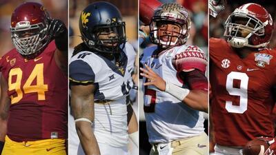 Leonard Williams (USC), Kevin White (West Virginia), Jameis Winston (Flo...