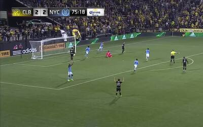 Jack Harrison grita su segundo gol ante el Crew